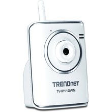 TRENDnet TV-IP110WN SecurView Surveillance/Network Camera - Color - CMOS - Wireless, Wired - Wi-Fi - Fast Ethernet