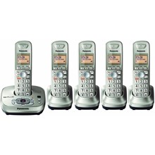 Panasonic KX-TG4025N DECT 60 Expandable Cordless Phone System with Digital Answering System - Champagne Gold