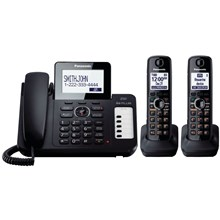 Panasonic KX-TG6672B DECT 60 Expandable Cordless Phone System with Digital Answering System - Black