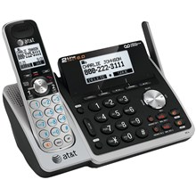 AT&T TL88102 DECT 60 Expandable Cordless Phone System with Digital Answering System