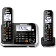Panasonic KX-TG6842B Expandable Digital Cordless Answering System with 2 Handsets