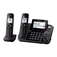 Panasonic KX-TG9542B 2-Line DECT 6.0 Link2Cell Expandable Digital Cordless Answering System with 2 handset