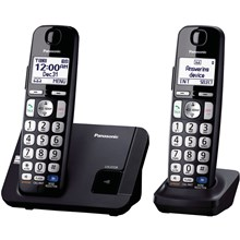 Panasonic KX-TGE212B Amplified Expandable Digital Cordless Answering System with 2 Handsets