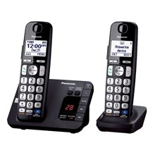 Panasonic KX-TGE232B Expandable Cordless Phone with Large Keypad- 2 Handsets