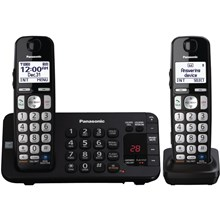 Panasonic KX-TGE242B Expandable Digital Cordless Answering System with 2 Handsets