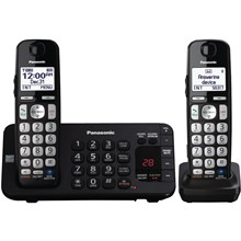 Panasonic KX-TGE244B Expandable Digital Cordless Answering System with 4 Handsets