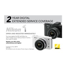 11855 Extended Service Coverage 2 Years for Nikon 1 cameras