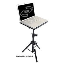 Pyle PLPTS4 DJ Laptop Tripod Adjustable Stand For Notebook Computer Black
