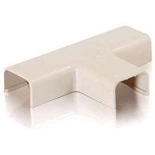 """Cables To Go 13378 Raceway Tee Cover, 1.25"""", Ivory"""
