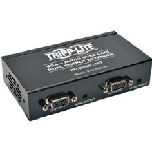 Tripp Lite Dual VGA with Audio over Cat5/Cat6 Extender, Box-Style Receiver, 1440x900 at 60Hz, Up to 300 ft., TAA (B132-200A-SR)