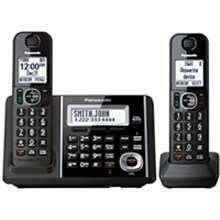 Panasonic KX-TGF342B Cordless Phone and Answering Machine with 2 Handsets