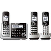 Panasonic KX-TGF373S Link2Cell Bluetooth Cordless Phone and Answering Machine with 3 Handsets