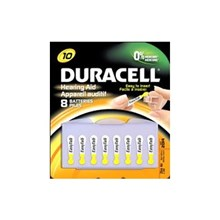 Duracell Hearing Aid Batteries with EasyTab Size 10, 8 Count
