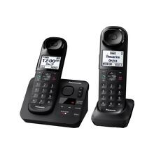 Panasonic Expandable Cordless Phone with Comfort Shoulder Grip and Answering Machine- 2 Handsets - KX-TGL432B