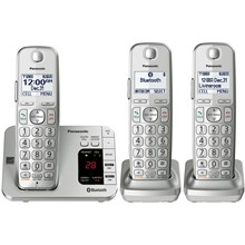 Panasonic Link2Cell Bluetooth® Cordless Phone with Answering Machine - 3 Handsets - KX-TGE463S