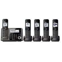 Panasonic KX-TG585SK Link2Cell Bluetooth Cordless Phone with Answering Machine 5 Handsets
