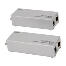 StarTech.com Serial over Cat5/Cat6 RS232 Extender, Transmitter and Receiver, Up to 3280-ft. 1,000m. (RS232EXTC1)
