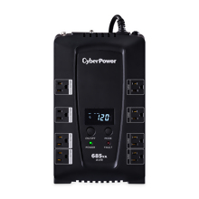 CyberPower CP685AVRLCD Intelligent LCD UPS System, 685VA/390W, 8 Outlets, AVR, Compact - (NEW LOOK)