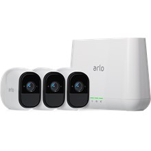 Netgear Arlo Pro Rechargeable Wire-Free HD Security 3-Camera System (VMS4330)