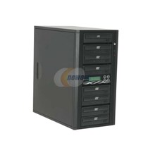Ily DM-ACS5207BK Black 1 to 7 CD Duplicator Spartan Series With Sony Drive, Master Error Model