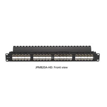 Black Box JPM820A-HD SpaceGAIN CAT6 High-Density Feed-Through Patch Panel, Unshielded, 48-Port, 1U