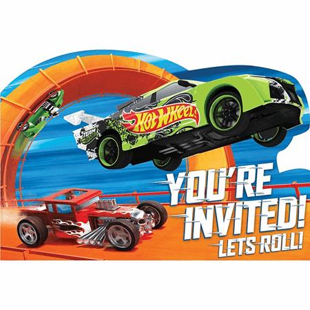 Hot Wheels Invitations 8ct Mattel