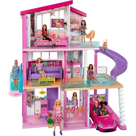 Barbie Dreamhouse Dollhouse W Pool Slide Elevator Fhy74 Barbie