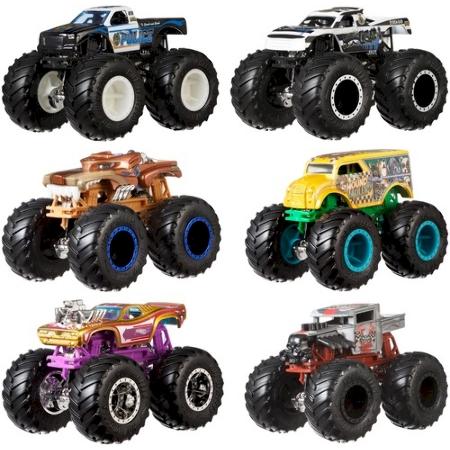 Hot Wheels Monster Trucks 1 64 Demo Doubles 2 Pack Fyj64 Mattel