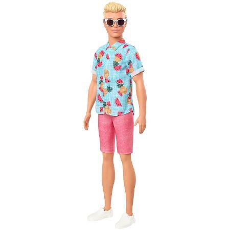 Barbie Ken Fashionistas Doll Sculpted Dreadlocks and Animal-Print Shirt New 2020
